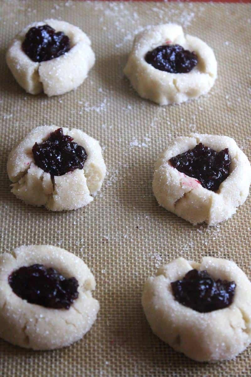 Homemade Jam Thumbprint Cookies
