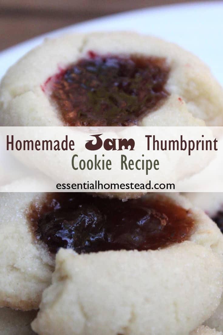 Homemade Jam Thumbprint Cookies Recipe