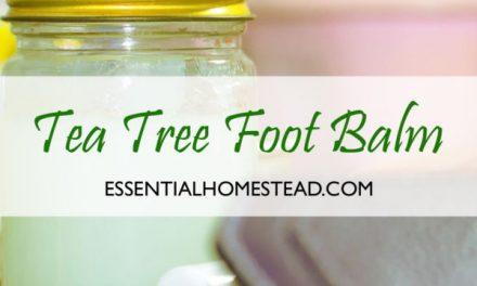 Tea Tree Foot Balm Recipe