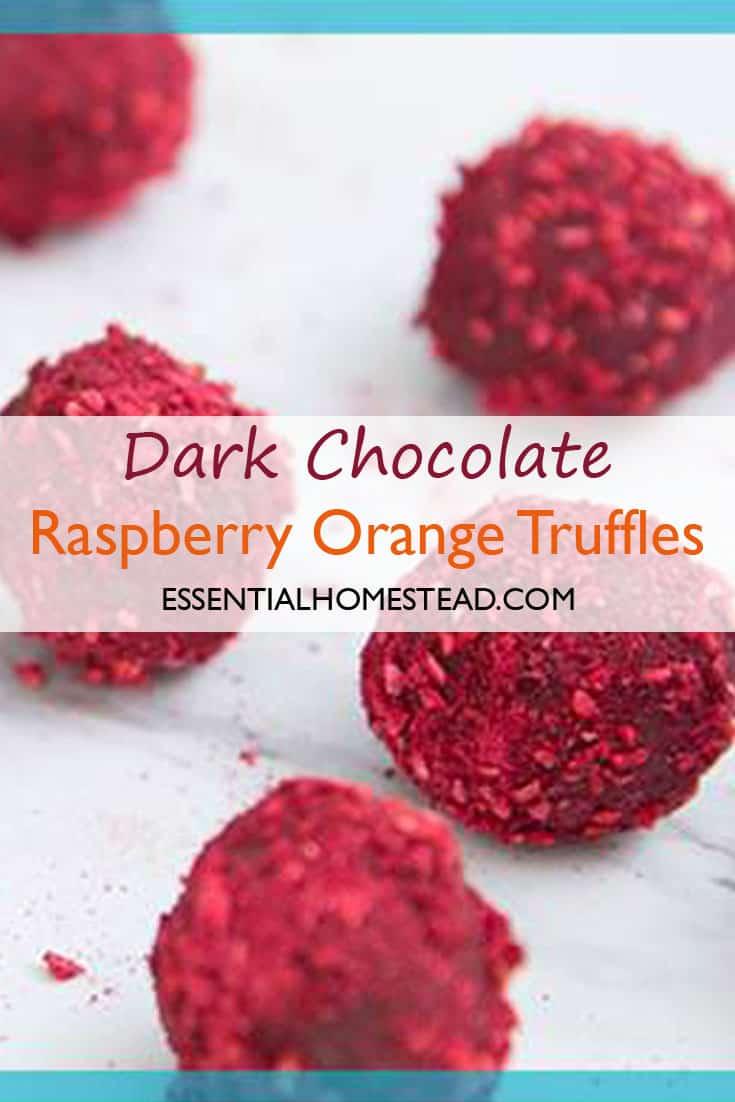 dark chocolate raspberry orange truffles