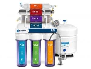 Express Water Alkaline Ultraviolet Reverse Osmosis Filtration System-11 stage system