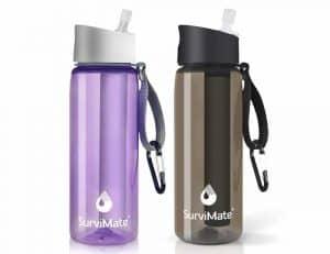SurviMate Filtered Water Bottle