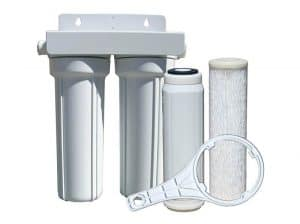 Watts 520022 RVBoat Duo Exterior Water Filter with Garden Hose Fittings